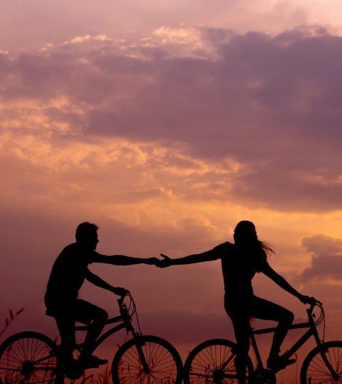 biking shilouette